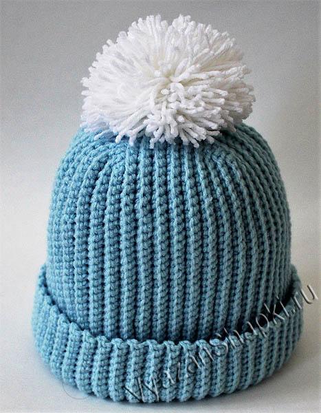 шапка бини крючком мастер класс вяжем шапочки